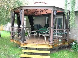 square gazebo deck plans gazebos canada porch 6555 interior decor