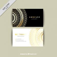 Luxury Business Cards Luxurious Business Card Template Vector Free Download