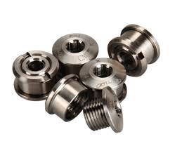 titanium chain rings images 5pcs lot ti titanium crankset chainring bolts nuts chain ring bolt jpg