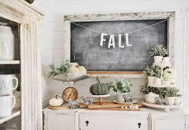 a neutral fall farmhouse buffet liz marie blog