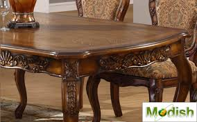 Carved Dining Table And Chairs 7 Pc Luxury Solid Wood Carving Dining Table Chair Set Antique