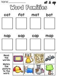 at word family worksheets for kindergarten short vowel word