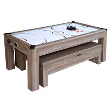 pool table combo set driftwood 7 ft air hockey table combo set with benches pool warehouse