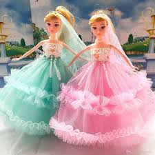 wedding presents 2017 new girl gifts doll wedding dress lace birthday