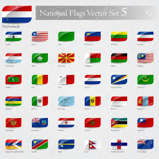 Slavic Flags National Flags Of The World Emboss And Round Corner Set 5 Royalty