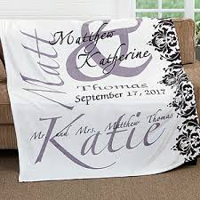 personalized fleece blanket 50x60 wedding gift wedding gifts