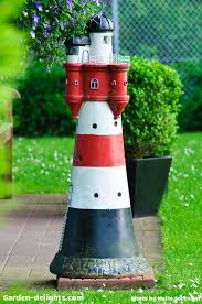 garden lighthouses decorative unique nautical yard accents garden