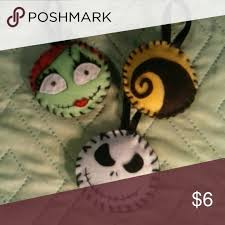 nightmare before felt ornament set custom felt