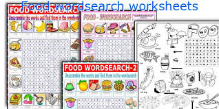 english teaching worksheets food wordsearch
