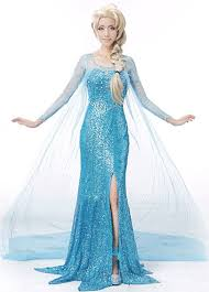 disney frozen elsa halloween princess costume deluxe dress gown