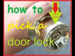 how to pick a bedroom lock how to pick a door lock how to open lock without key youtube