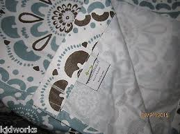 threshold for target shower curtain blue brown medallion what u0027s