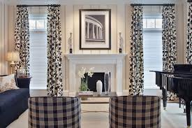 Family Room Curtains Modern Drapes Curtains With Black And White Floral Pattern For