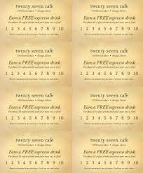 rewards punch card marketing archive