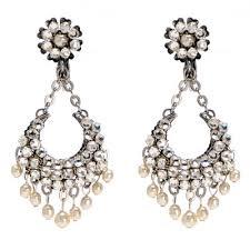 and pearl chandelier pearl chandelier earrings miriam haskell