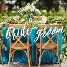 and groom chair signs wedding and groom chair signs white mirror gold hanging