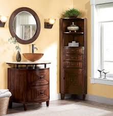 Tall Corner Bathroom Cabinet Inspiring Corner Bathroom Cabinet To Organize Well Your Linens And