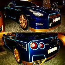 tron koenigsegg nissan gtr with tron wrap supercar luxury money