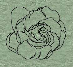 gardenia flower outline tattoo on the left forearm close to the