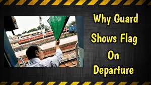 Flag Signals Meaning Indian Railways Signalling System Why Guard Shows Flag Youtube