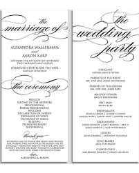 program template for wedding deal alert wedding program template wedding program printable