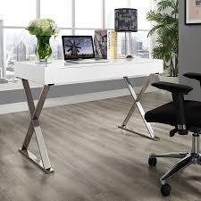 White Contemporary Desks by Modern Desks Samuel White Desk Eurway Furniture