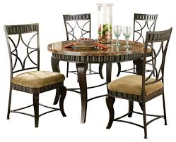steve silver hamlyn 5 piece dining room set with marble top and