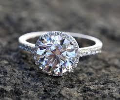 2 carat halo engagement ring certified 5 25 carat halo