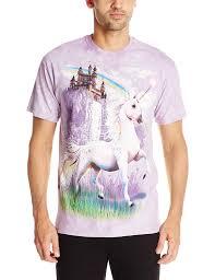 amazon com the mountain unicorn castle t shirt clothing