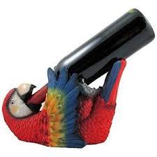 parrot home decor k n colorful parrot single wine bottle holder art display stand