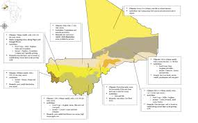 Map Of Mali Mali An Assessment Of Vulnerability Climate Risks Impacts And