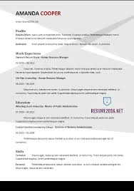 newest resume format resume format 2017 20 free word templates
