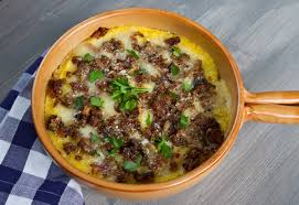 cuisine polenta baked polenta with sausage mushrooms food forever