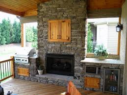 outdoor kitchen and fireplace designs pictures on stunning home