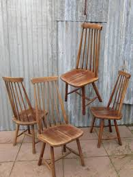 Swedish Wooden High Chair Mid Century Swedish High Back Spindle Chairs Set Of 4 For Sale At