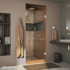 Shower Door Hinged by Shop Dreamline Unidoor Lux 36 In To 36 In Frameless Chrome Hinged