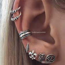 cuff earrings 2018 boho retro womens earrings set ear cuff earring antique