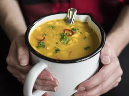 pumpkin soup with chili and crème fraiche recipe the ideas kitchen
