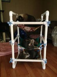 i made a 3 tier cat hammock from some scraps it u0027s been accepted