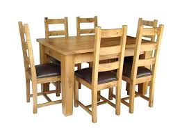 6 seater oak dining table table and 6 chairs remarkable solid oak extending dining table and 6
