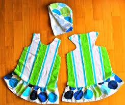 beach towel dresses a tutorial ish crafterhours