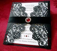 gorgeous gothic style wedding invitations halloween inspired