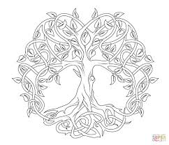 celtic knot tree of coloring pages collection coloring for
