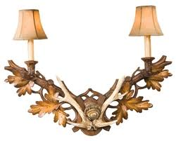 Antler Sconces Rustic Cabin Lamps And Lighting Wall Sconce