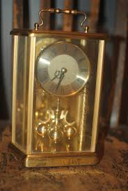 Home Decor Germany by West Germany Elgin Brass Anniversary Mantle Clock Vintage Decor