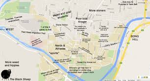 County Maps Of Ohio by A Judgmental Map Of Athens Ohiothe Black Sheep