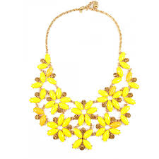 yellow necklace images Enchanted garden yellow floral statement bib necklace jpg