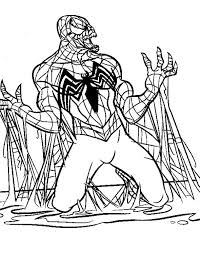 evil black spiderman coloring pages coloring book