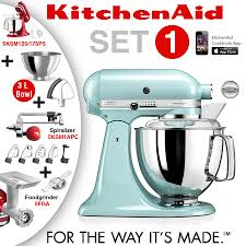 Artisan Kitchenaid Mixer by Kitchenaid Artisan Stand Mixer Set 1 Ice Blue Cookfunky