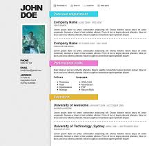 Colorful Resume Templates Free 50 Professional Html Resume Templates Web U0026 Graphic Design